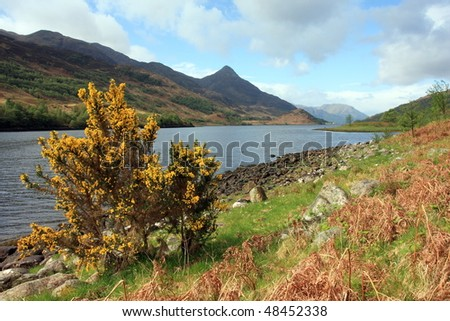 Pap of Glencoe and Loch Leven. - stock photo