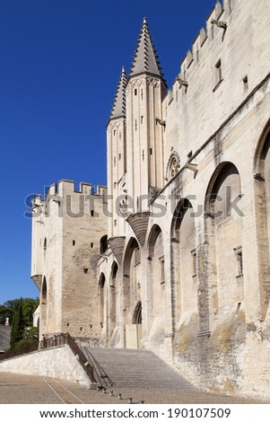 Papal Palace of Avignon, France. - stock photo