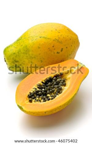 papaya - stock photo