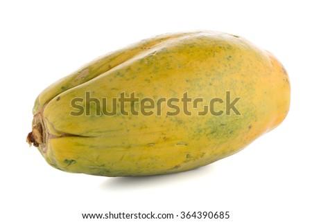 Papaya isolated on a white background - stock photo