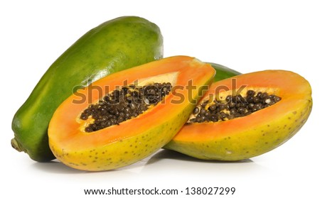 Papayas. - stock photo