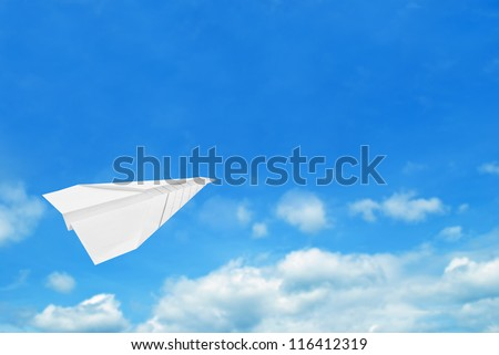 Paper air plane , business growth concept - stock photo