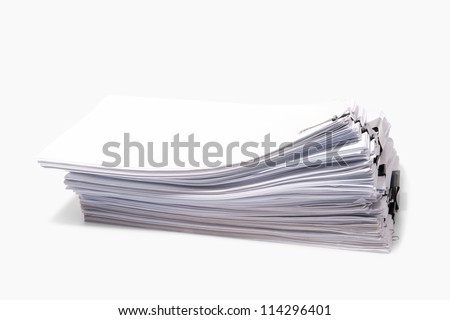 Paper and clip isolated