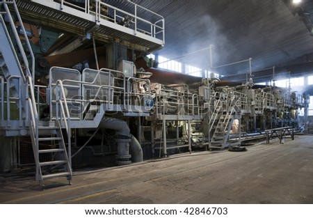 Paper and pulp mill plant - Fourdrinier Machine