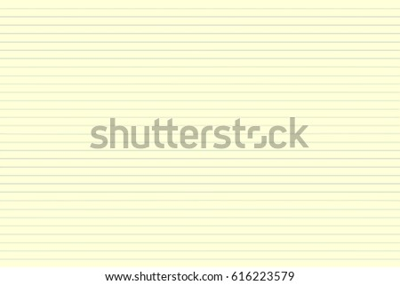 Blank Yellow Lined Paper Sheet Background Stock Illustration