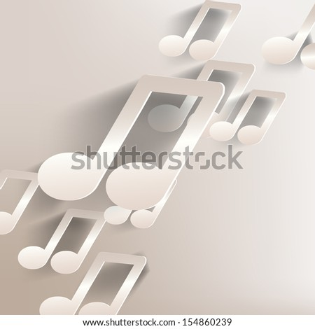 paper background with music web icon,flat design - stock photo
