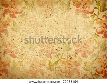 paper background with ornament - stock photo