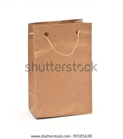 Paper bag, Look through my portfolio to find more images of the same series - stock photo