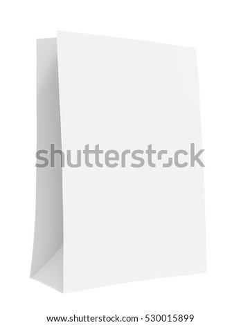 Paper bag mockup for applying branding, 3d rendering