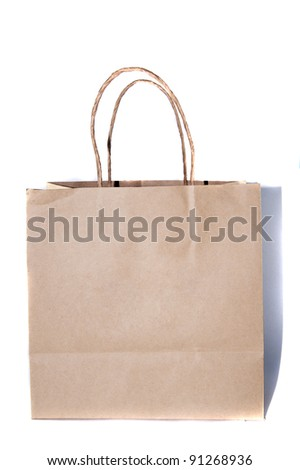 paper bag on white backgrounds