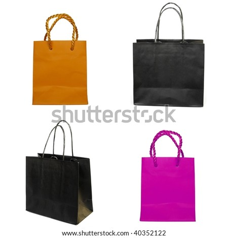 Paper bag shopper isolated on white background