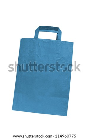 paper bag with white background