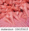 paper bags on cotton cloth - stock photo