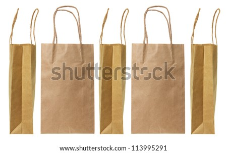 Paper Bags on White Background - stock photo