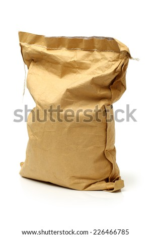 paper bags on white background