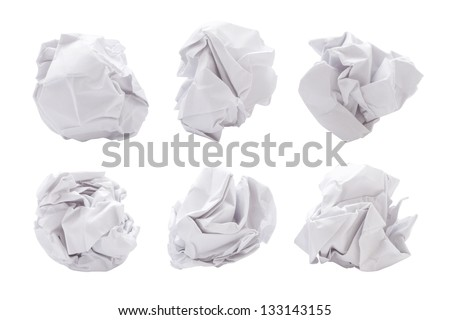 paper ball - stock photo