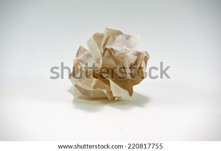 Paper ball - Junk paper can be recycle on white background. - stock photo