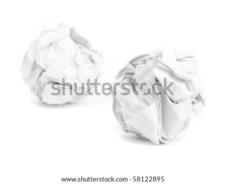 paper balls - stock photo