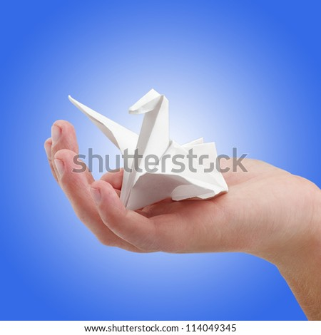 Paper bird - stock photo
