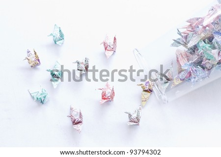 paper birds - stock photo