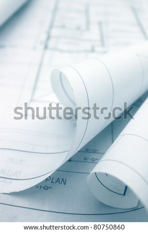 Paper Blueprint - stock photo