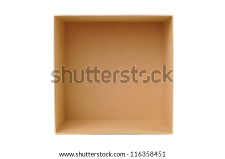 Paper box for packaging - stock photo