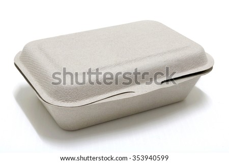 paper box for takeaway - stock photo