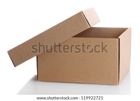 paper box, isolated on white