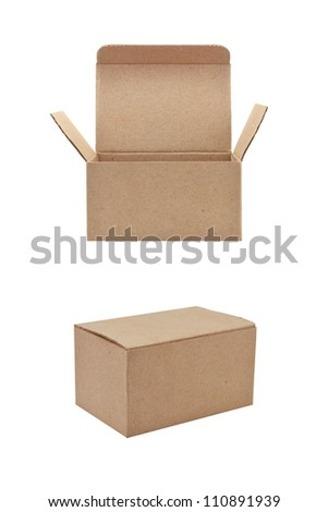 paper box on white background - stock photo