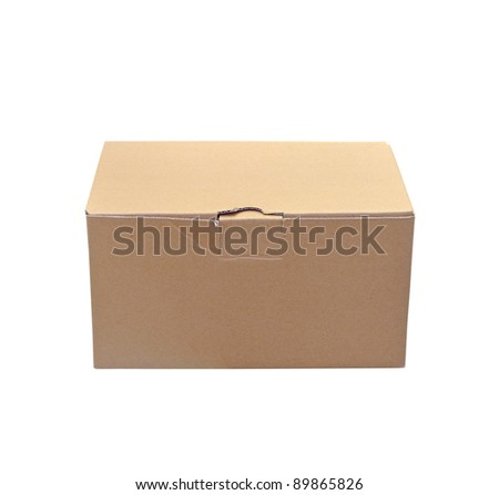 Paper box on white background