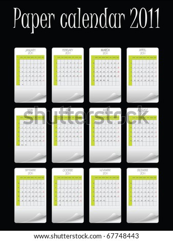 paper calendar for 2011 against black background, abstract art illustration; for vector format please visit my gallery