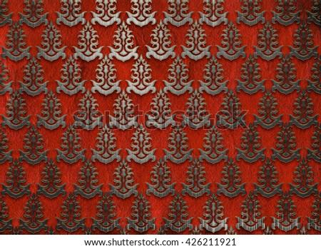Paper Card Floral Damask Pattern Wedding Stock Illustration