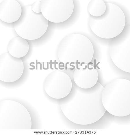 Paper Circle Background. Circles with Drop Shadows - stock photo