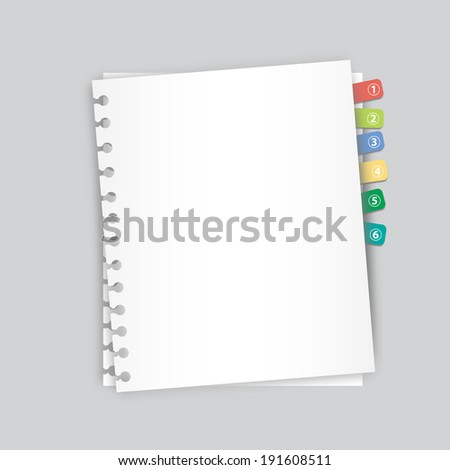 Paper clip art abstract - stock photo