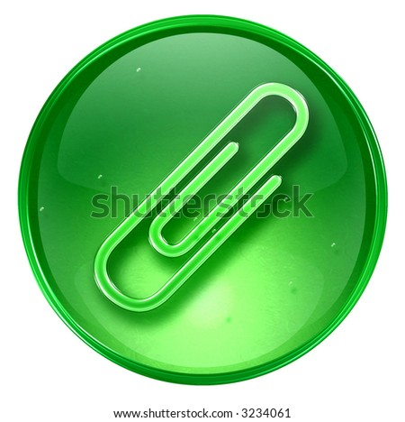 Paper clip icon. (With Clipping Path)
