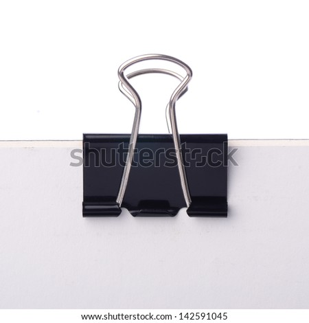 Paper clip in black, the image has clipping path that can be easy to moved the object. - stock photo