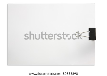 paper clip isolated in white background - stock photo