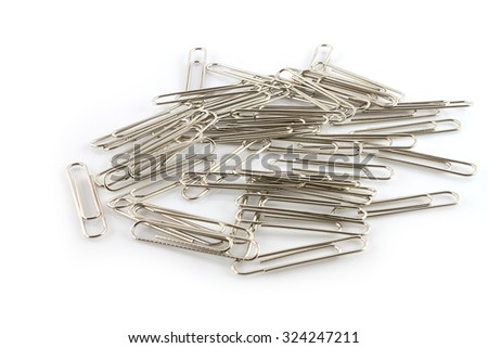 Paper clip isolated on  white background - stock photo