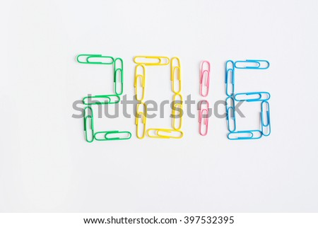 Paper clip on white background - stock photo
