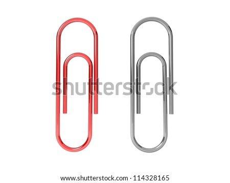 Paper clips - stock photo