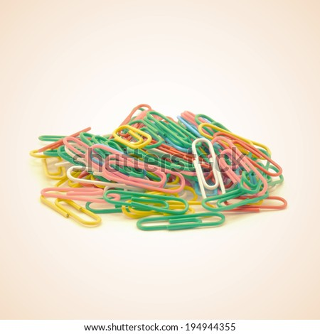 paper clips old vintage retro style - stock photo