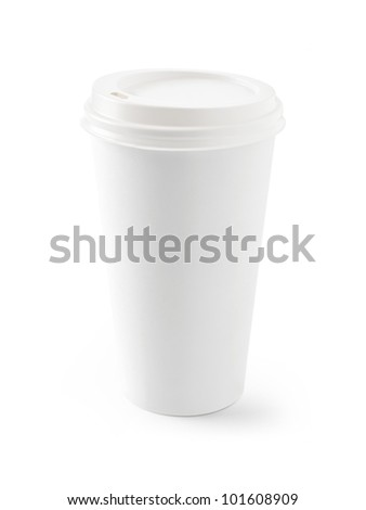 paper coffee cup - stock photo