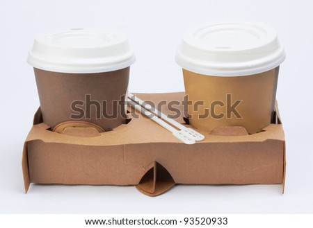 Paper Coffee Cup on a white background - stock photo