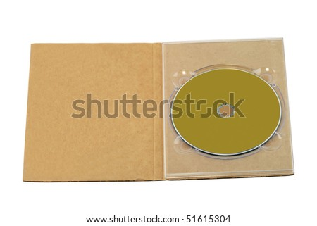 Paper Compact Disc Box Isolated on White Background - stock photo