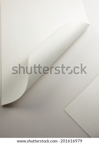 paper corner curved and curled - stock photo