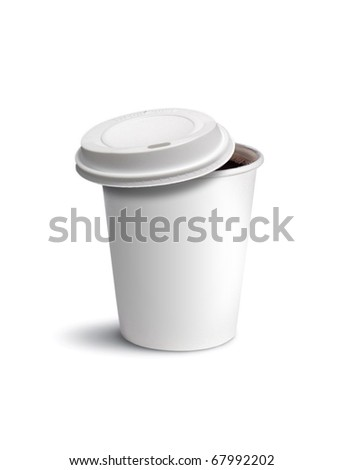 paper cup coffee isolated - stock photo
