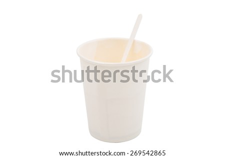 paper cup on a white background