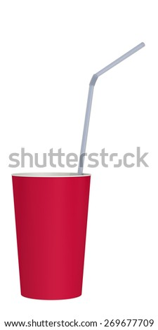 paper cup on a white background - stock photo