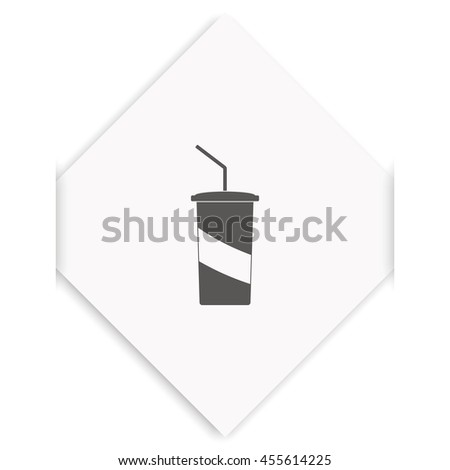 Paper cup template for soda or cold beverage. - stock photo