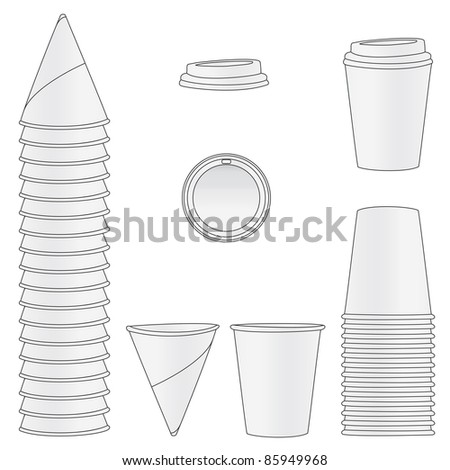 Paper Cups - stock photo